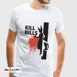 Camiseta blanca para hombre Kill Bills
