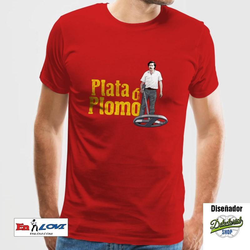 Plata ó Plomo Camiseta para hombre roja