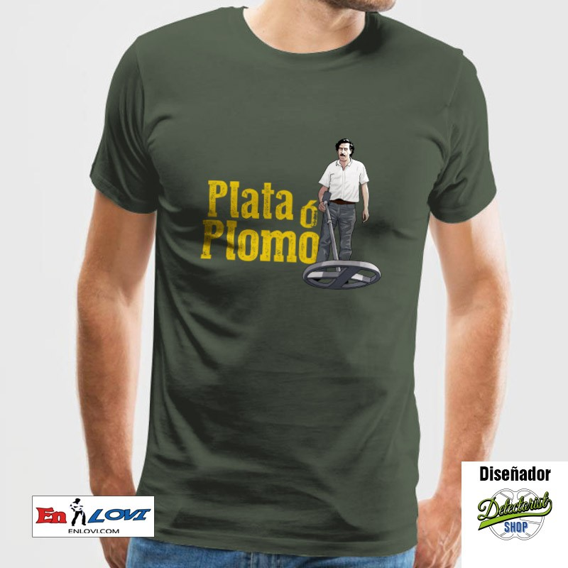 Plata ó Plomo Camiseta para hombre verde