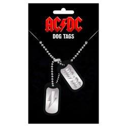 Colgante placas identificacion Logo ACDC