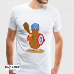 Camiseta para hombre Capitán Amer-Nicola