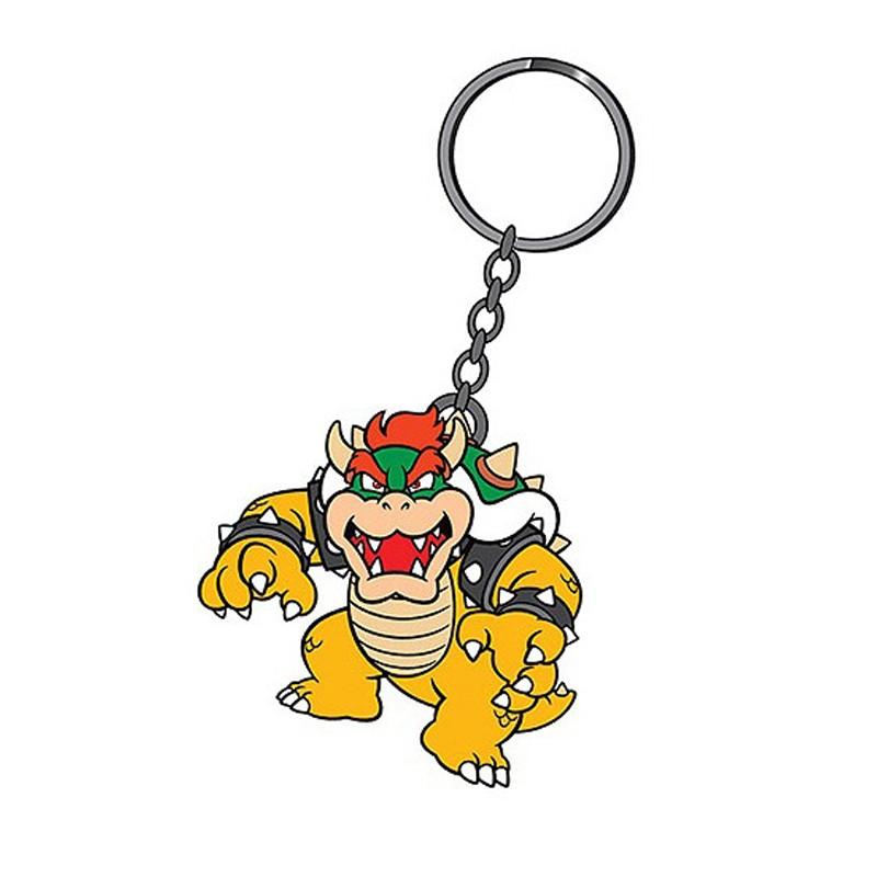 Super Mario Bros. Llavero caucho Bowser 6 cm