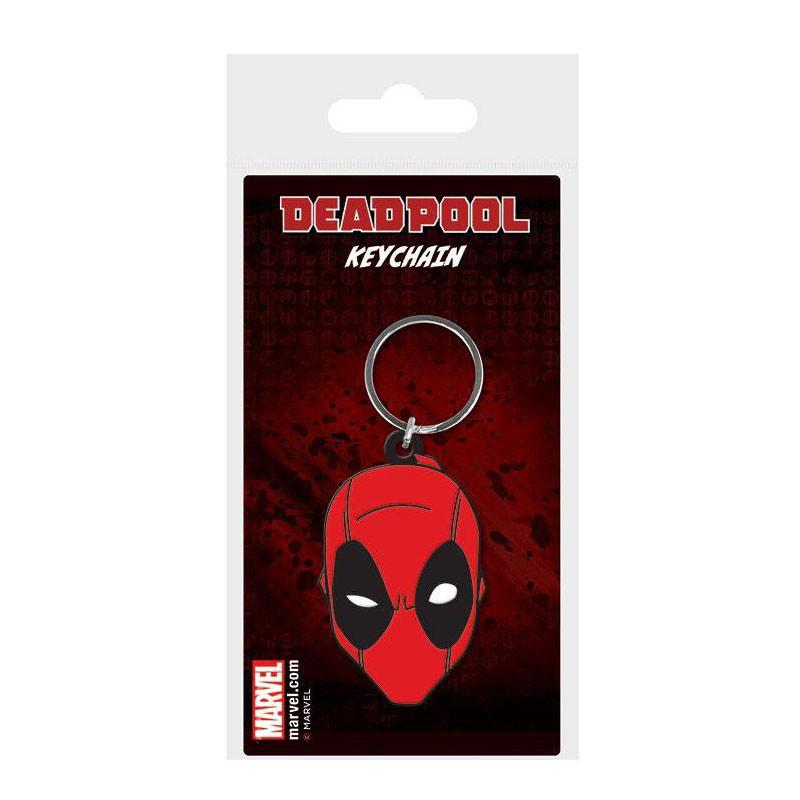 Llavero caucho Deadpool Face 6 cm - Marvel Comics