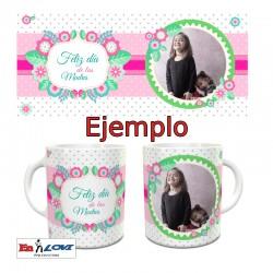 Diseños florales para tazas personalizable