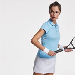 Camiseta polo tecnica para mujer manga corta