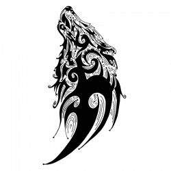 Camiseta lobo tribal