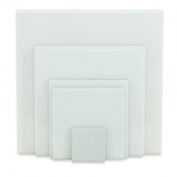 Azulejos blancos cuadrados personalizados