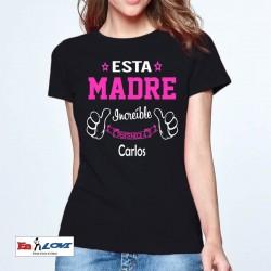 Camiseta Esta madre increíble pertenece a