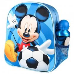 Mochila 3D Mickey Disney + cantimplora 31cm