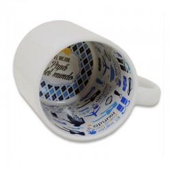 """Taza blanca personalizable con interior impreso """"Papá""""01"""