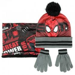 Conjunto gorro guantes braga cuello Spiderman Marvel