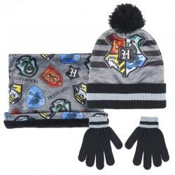 Conjunto gorro guantes braga cuello Harry Potter