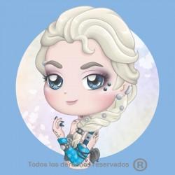 Camiseta Chibi Elsa