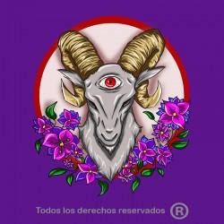 Camiseta cabra satánica