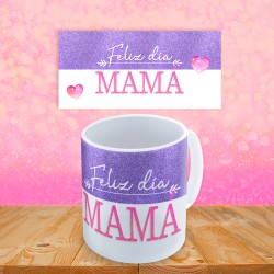 Taza de cerámica con la frase, Feliz día Mamá.