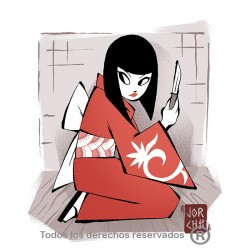 Camiseta Geisha para hombre