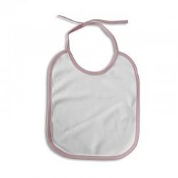 Babero de tela de color rosa personalizable